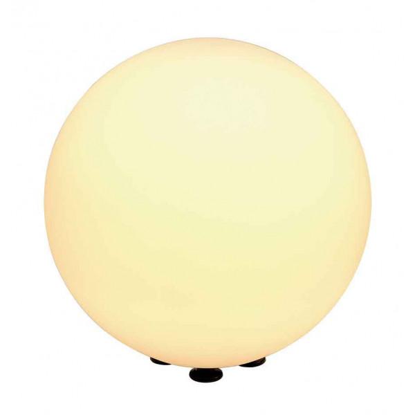 Lampe boule de jardin poser 40cm for Luminaire exterieur blanc