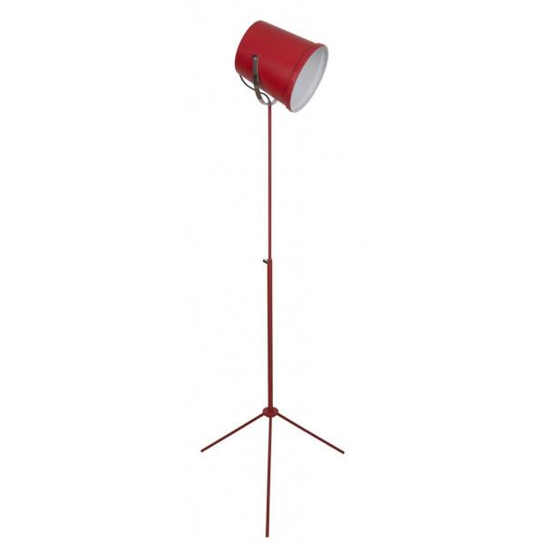 Lampadaire atelier rouge