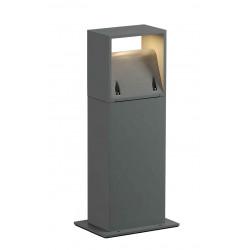 LOGS 40 borne carré gris argent 6W LED blanc chaud