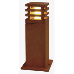 RUSTY LED 40 CARRE borne fonte rouillée LED 3000K IP55