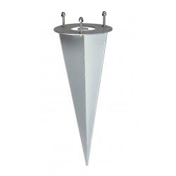 Piquet pour luminaires de jardin métal zingué