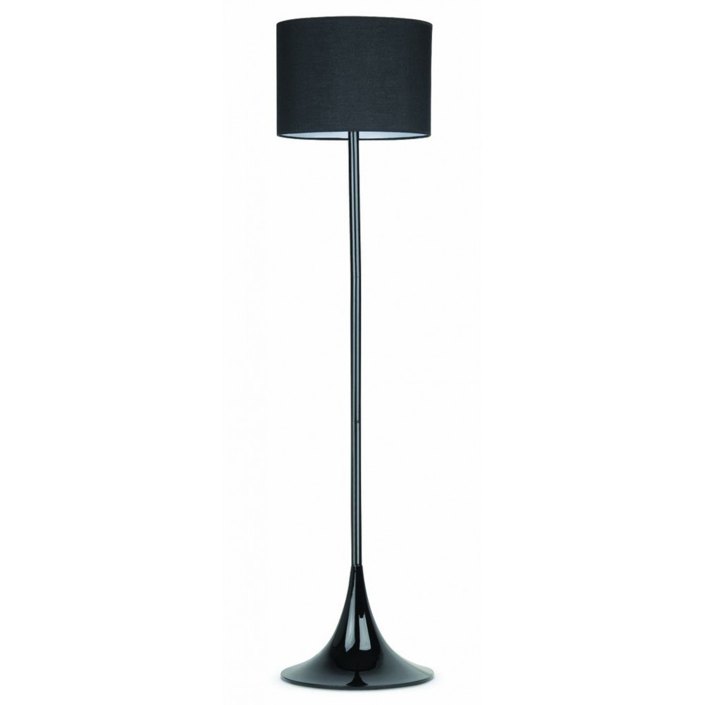 lampadaire noir l gant au pied tulipe. Black Bedroom Furniture Sets. Home Design Ideas