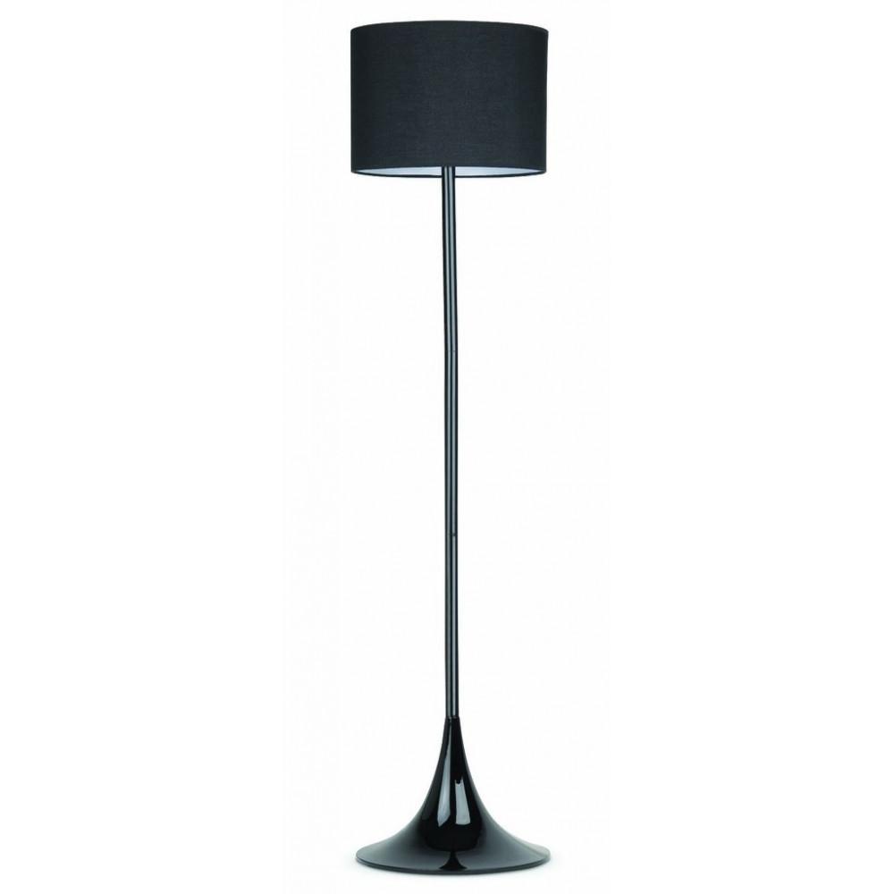 Lampadaire noir l gant au pied tulipe for Eclairage exterieur lampadaire