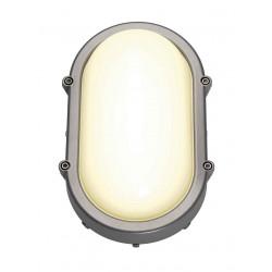 TERANG LED applique et plafonnier ovale gris argent 11W LED 3000K