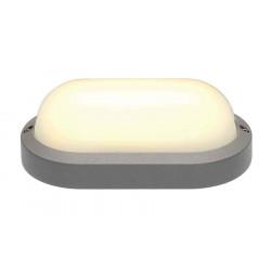 TERANG 2 applique et plafonnier ovale gris argent 11W LED 3000K