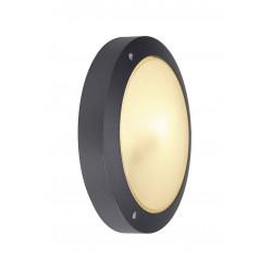 BULAN applique ronde anthracite E14 max 60W verre satiné
