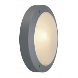 BULAN applique ronde gris argent E14 max 60W verre satiné