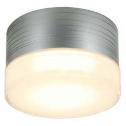 MICRO FLAT applique et plafonnier rond gris argent GX53 max 9W verre satiné
