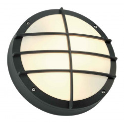 BULAN GRID applique ronde anthracite E27 max 2x 25W diffuseur PVC