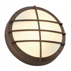 BULAN GRID applique ronde fonte rouillée E27 max 2x 25W diffuseur PVC