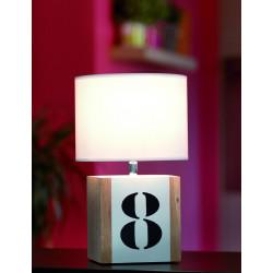 Lampe chevet bois L34 - personnalisable