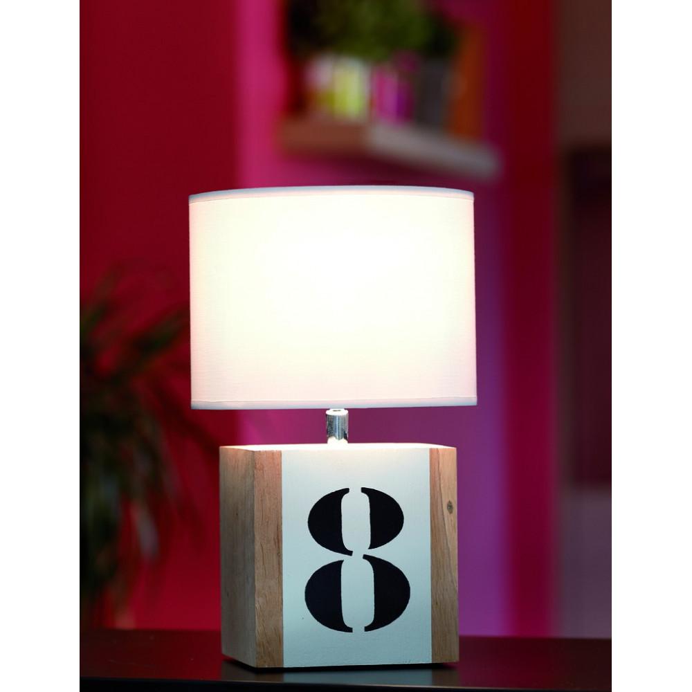 lampe chevet bois l34 personnalisable. Black Bedroom Furniture Sets. Home Design Ideas
