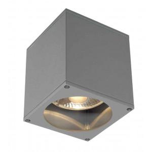 BIG THEO OUT plafonnier carré gris argent ES111 max 75W