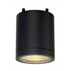 ENOLA_C OUT CL plafonnier rond anthracite 9W LED 3000K 35°