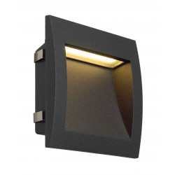DOWNUNDER OUT LED L encastré mural anthracite LED 096W 3000K 155lm IRC80