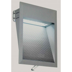 DOWNUNDER LED 27 applique gris foncé 18W blanc IP44