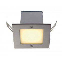 FRAME OUTDOOR 16 LED encastré carré inox blanc chaud