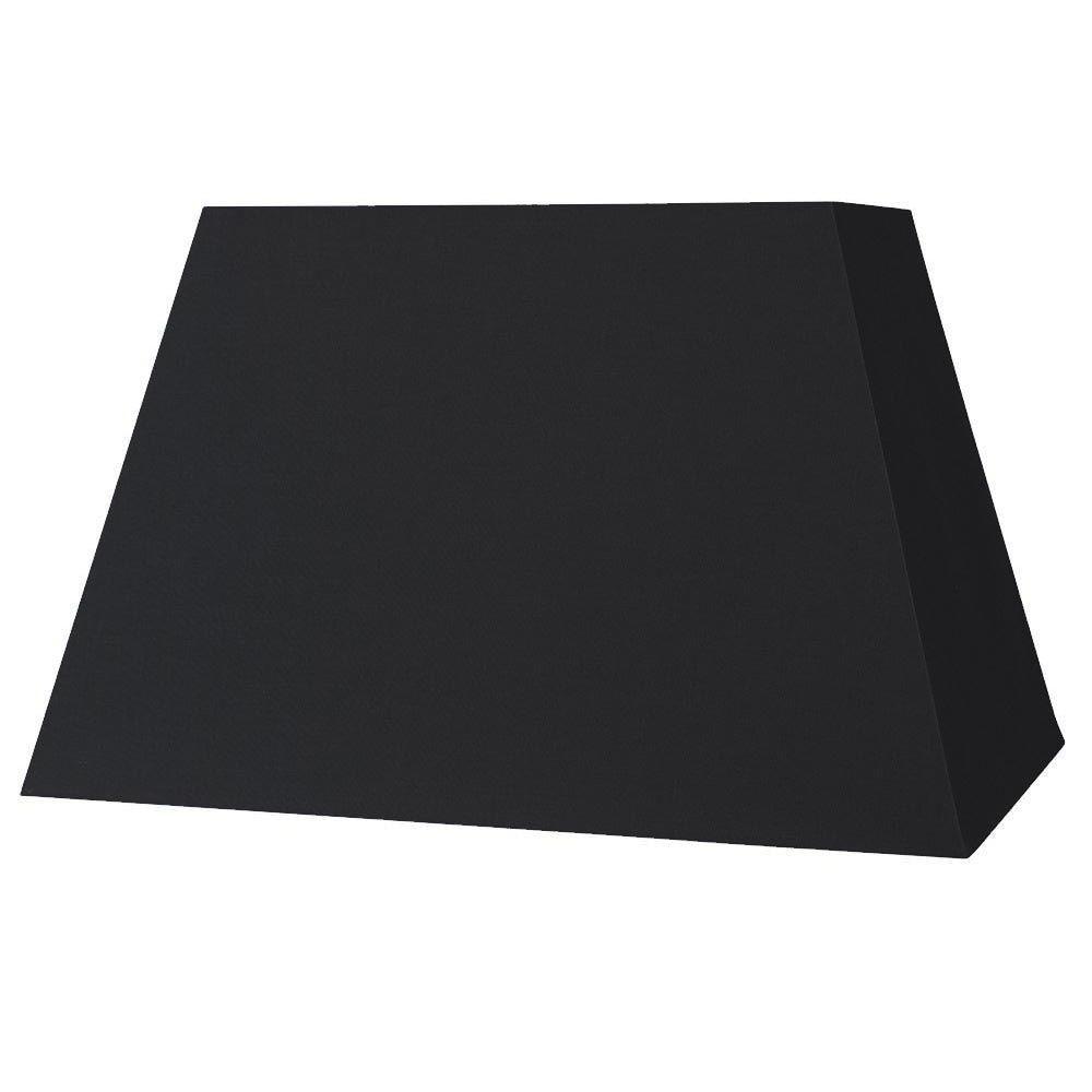 Abat jour pyramide noir - Abat jour rectangulaire ...