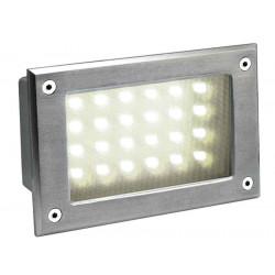 BRICK LED 24 inox 304 encastré inox brossé 5W 3000K IP54