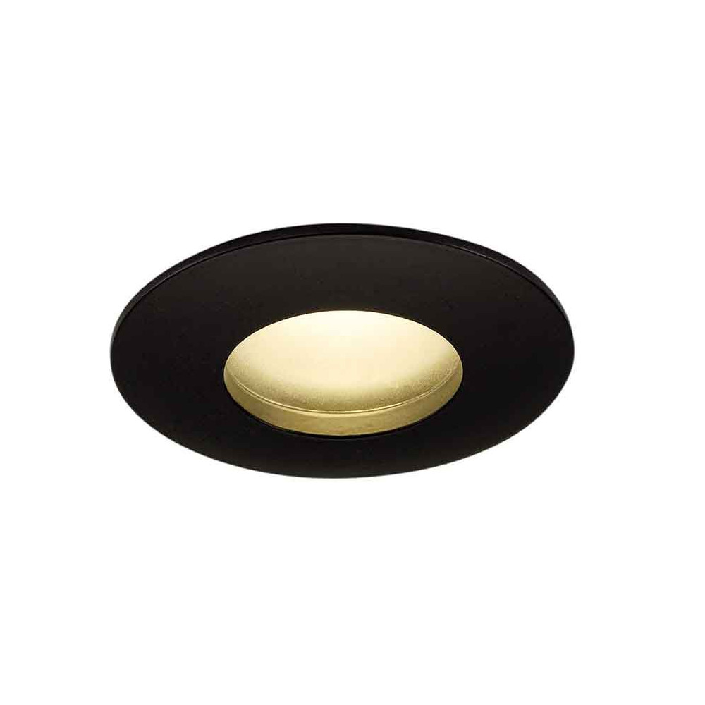 Spot encastrable rond led ext rieur ip65 noir for Luminaire exterieur rond