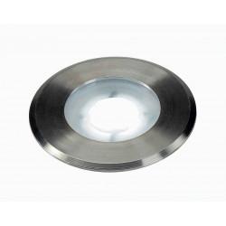 DASAR FLAT 230V LED encastré de sol rond 43W LED blanche collerette inox