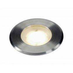 DASAR FLAT 230V LED encastré de sol rond 43W LED blanc chaud collerette inox