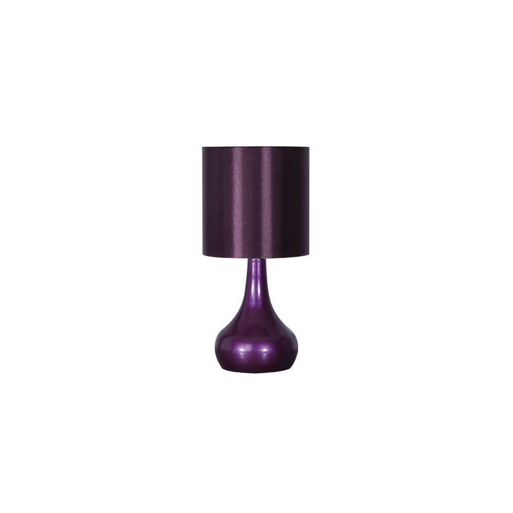 lampe de chevet tactile mauve vente luminaire tactile. Black Bedroom Furniture Sets. Home Design Ideas