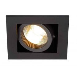 KADUX 1 GU10 encastré carré noir max 50W