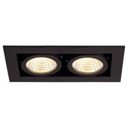 KIT KADUX 2 LED encastré carré noir 15W 3000K 38° alim incluse