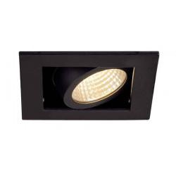 KIT KADUX 1 LED encastré carré noir 9W 3000K 38° alim incluse