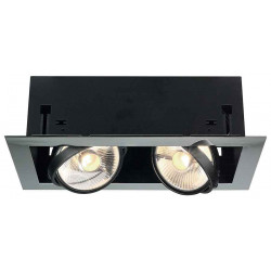 AIXLIGHT FLAT DOUBLE ES111 encastré chrome et noir mat 2x GU10 max 75W