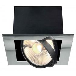 AIXLIGHT FLAT ES111 encastré chrome et noir mat GU10 max 75W