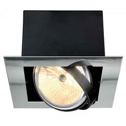 AIXLIGHT FLAT QRB111 encastré chrome et noir mat max 50W