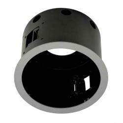 AIXLIGHT PRO 1 FLAT ROND AVEC COLLERETTE cadre d´installation gris argentetnoir