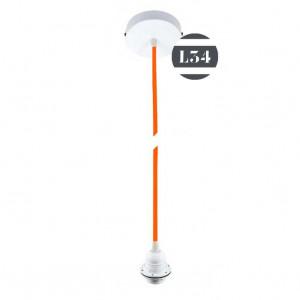 Suspension fil électrique orange pour abat-jour