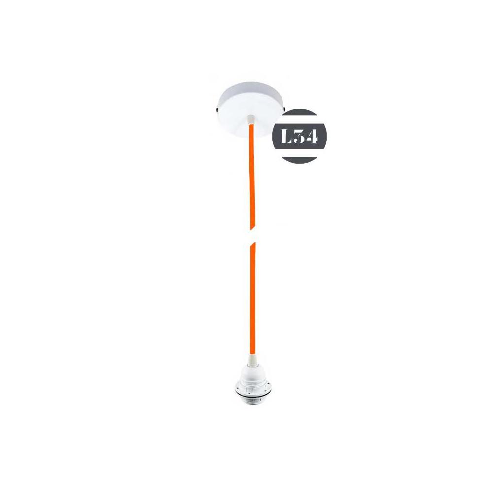 kit suspension fil lectrique orange pour abat jour. Black Bedroom Furniture Sets. Home Design Ideas