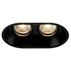 HORN 2 GU10 encastré oval noir mat max 2x50W