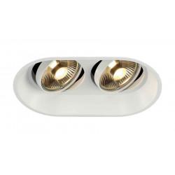 HORN 2 TURNO ES111 encastré oval blanc GU10 max 2x 50W