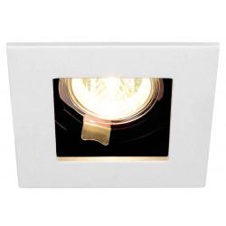 INDI REC 1S encastré carré blanc MR16 max 50W orientable