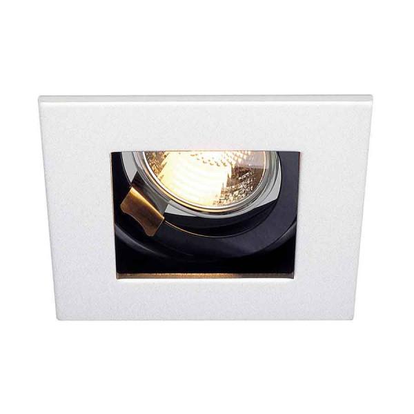 INDI REC 1S encastré carré blanc GU10 max 50W orientable