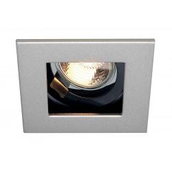 INDI REC 1S encastré carré gris argentetnoir GU10 max 50W orientable