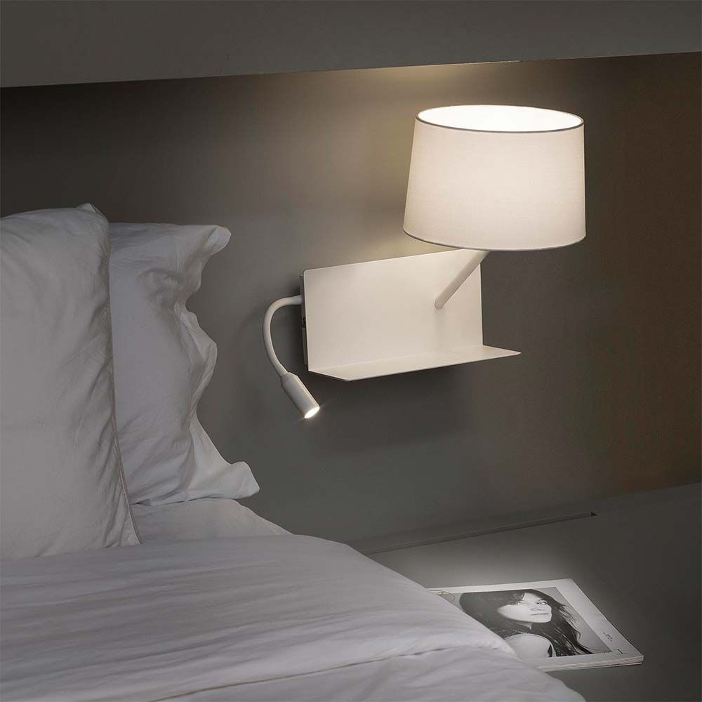 Applique chevet port usb et liseuse for Lampe a accrocher au lit