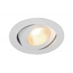 CONTONE encastré rond blanc LED 16W variable 2000-3000K lames resso