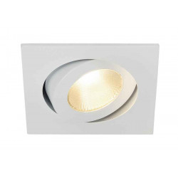 CONTONE encastré carré blanc LED 16W variable 2000-3000K lames ress