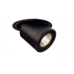 SUPROS MOVE encastré de plafond rond noir 3000lm 3000K SLM LED 60°