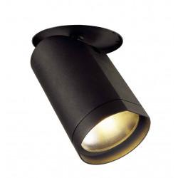 BILAS encastré 25° LED rond noir 20W 2700K