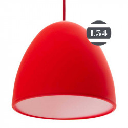 Suspension en silicone rouge