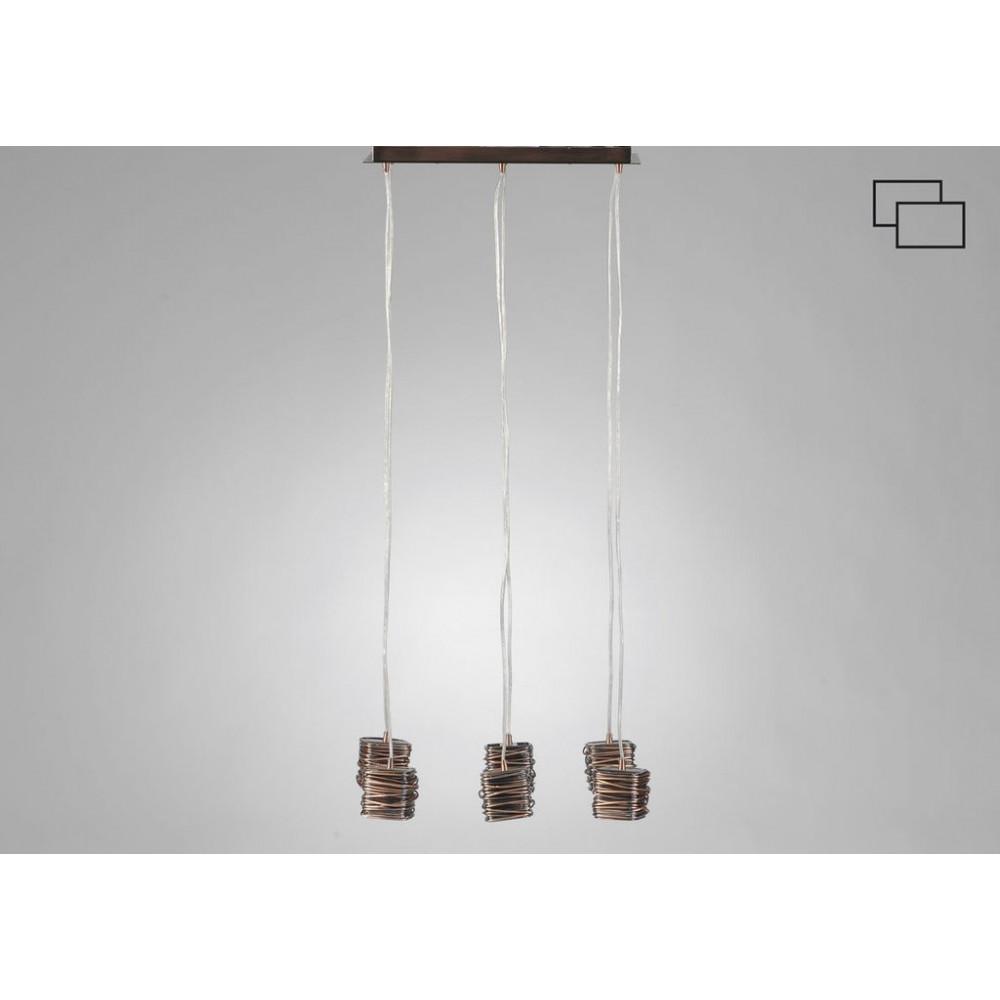 Suspension rectangulaire 6 ampoules for Suspension rectangulaire