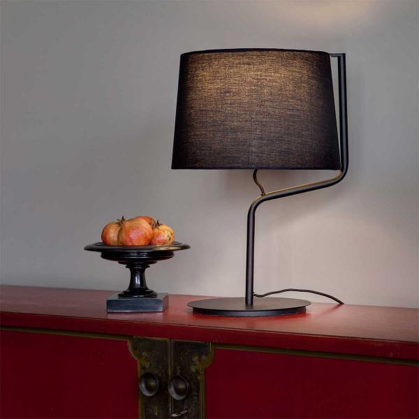Lampe poser noire for Lampe exterieur moderne