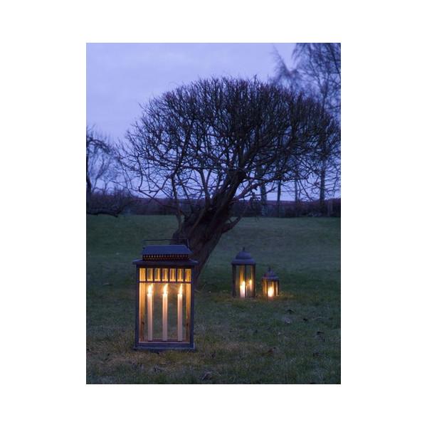 Lanterne en bois m tal et verre pour le jardin - Lanterne pour jardin ...